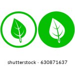 two round green leaf icons on... | Shutterstock .eps vector #630871637