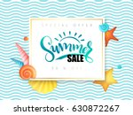 vector hand lettering summer... | Shutterstock .eps vector #630872267