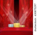 pedestal winner on a background ... | Shutterstock .eps vector #630875297