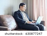 asian businessman is working at ...   Shutterstock . vector #630877247