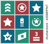 rating icons set. set of 9...