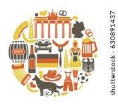 germany travel sightseeing... | Shutterstock .eps vector #630891437