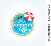 hot summer offer label | Shutterstock .eps vector #630903923
