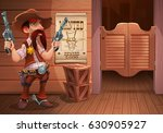 wild west background scene  ... | Shutterstock .eps vector #630905927