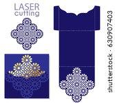 laser cut islamic pattern...   Shutterstock .eps vector #630907403