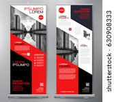 business roll up. standee... | Shutterstock .eps vector #630908333