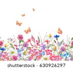 watercolor natural summer... | Shutterstock . vector #630926297