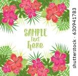 vector illustration hibiscus... | Shutterstock .eps vector #630941783
