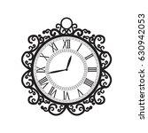 vector illustration of clock.... | Shutterstock .eps vector #630942053
