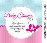 bright baby shower invitation... | Shutterstock .eps vector #630943283