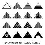 set of triangles | Shutterstock .eps vector #630946817