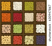 dried legumes and cereals in a... | Shutterstock .eps vector #630947867