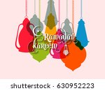 illustration of ramadan kareem... | Shutterstock .eps vector #630952223