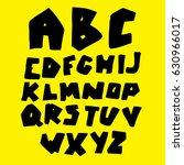 doodle latin alphabet. hand... | Shutterstock .eps vector #630966017