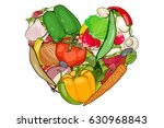 vegetables are laid out in the...