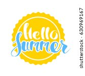 hello summer on color circle.... | Shutterstock .eps vector #630969167