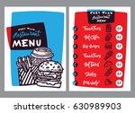 fast food menu design and food...   Shutterstock .eps vector #630989903