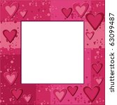 Pink Frame With Hearts