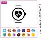 heart rate monitor watch    Shutterstock .eps vector #630996017
