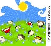 sunny summer day  raster... | Shutterstock . vector #63100702