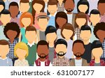 a large group of people... | Shutterstock .eps vector #631007177