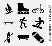 extreme icons set. set of 9... | Shutterstock .eps vector #631016207