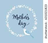 mothers day greeting card ... | Shutterstock .eps vector #631021823