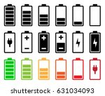 battery icon set | Shutterstock .eps vector #631034093