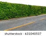 green hedge fence with concrete ... | Shutterstock . vector #631040537