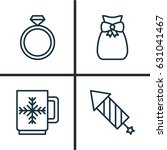 holiday icons set. collection... | Shutterstock .eps vector #631041467