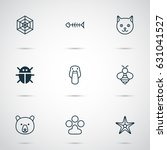 animal icons set. collection of ... | Shutterstock .eps vector #631041527