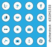 hot colorful icons set.... | Shutterstock .eps vector #631041533