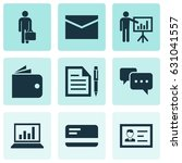 job icons set. collection of... | Shutterstock .eps vector #631041557