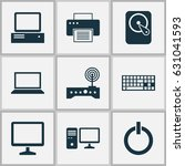 computer icons set. collection... | Shutterstock .eps vector #631041593