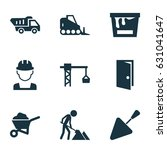 architecture icons set.... | Shutterstock .eps vector #631041647