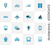 transport colorful icons set.... | Shutterstock .eps vector #631041653