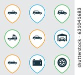 car icons set. collection of... | Shutterstock .eps vector #631041683