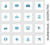traveling colorful icons set.... | Shutterstock .eps vector #631041743