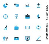trade colorful icons set.... | Shutterstock .eps vector #631041827