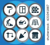 building icons set. collection... | Shutterstock .eps vector #631041887