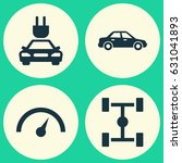 automobile icons set.... | Shutterstock .eps vector #631041893