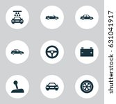 auto icons set. collection of... | Shutterstock .eps vector #631041917