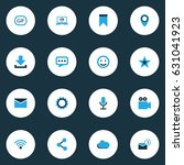 internet colorful icons set.... | Shutterstock .eps vector #631041923