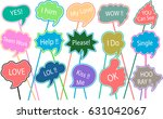 photo booth props colors text... | Shutterstock .eps vector #631042067