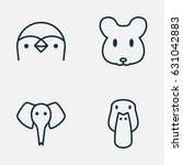 zoology icons set. collection... | Shutterstock .eps vector #631042883