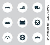 auto icons set. collection of... | Shutterstock .eps vector #631042997
