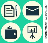 trade icons set. collection of... | Shutterstock .eps vector #631043387