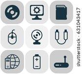 computer hardware icons set.... | Shutterstock .eps vector #631043417