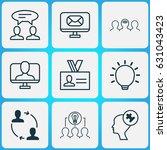 business management icons set.... | Shutterstock .eps vector #631043423