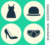 clothes icons set. collection... | Shutterstock .eps vector #631043453